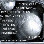 Citation Sir James Jeans Univers Pensée